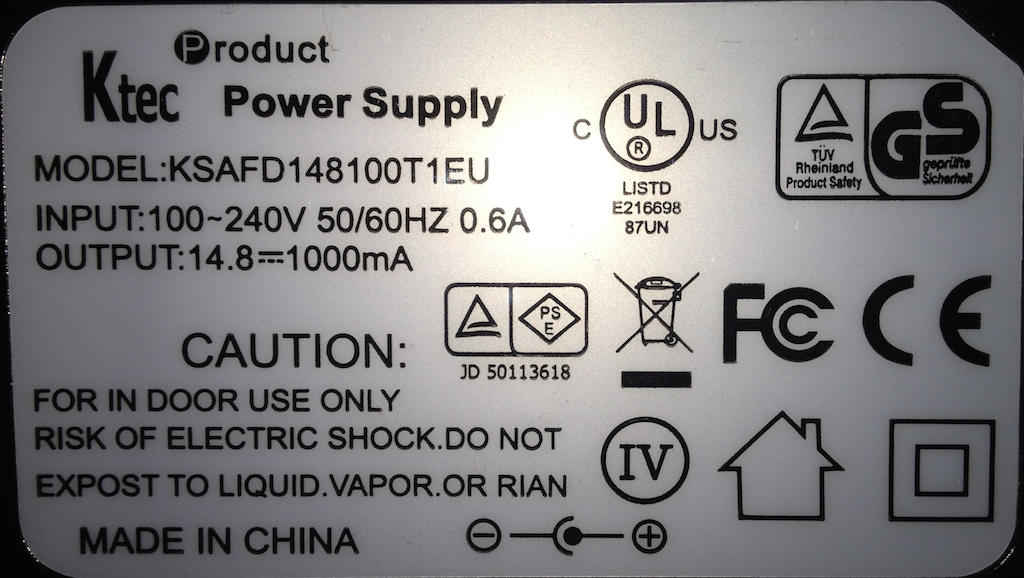 NiMH Battery Charger Specs